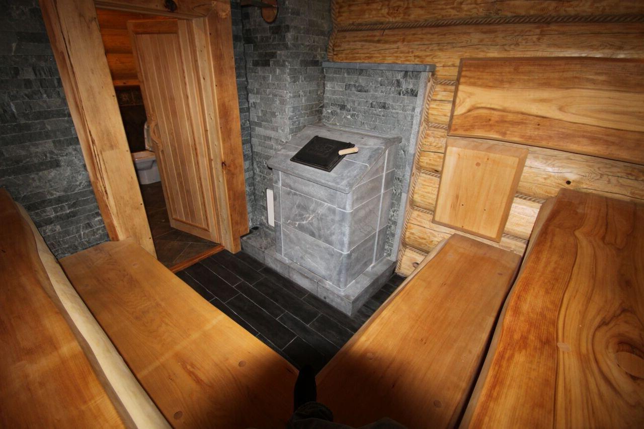 Печка для бани с открытыми камнями