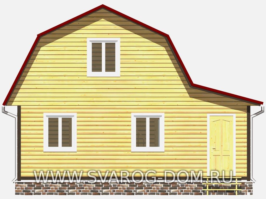 Дом из бруса 7х8. Дом из профилированного и клееного бруса ...  Дом из Бруса 7х8